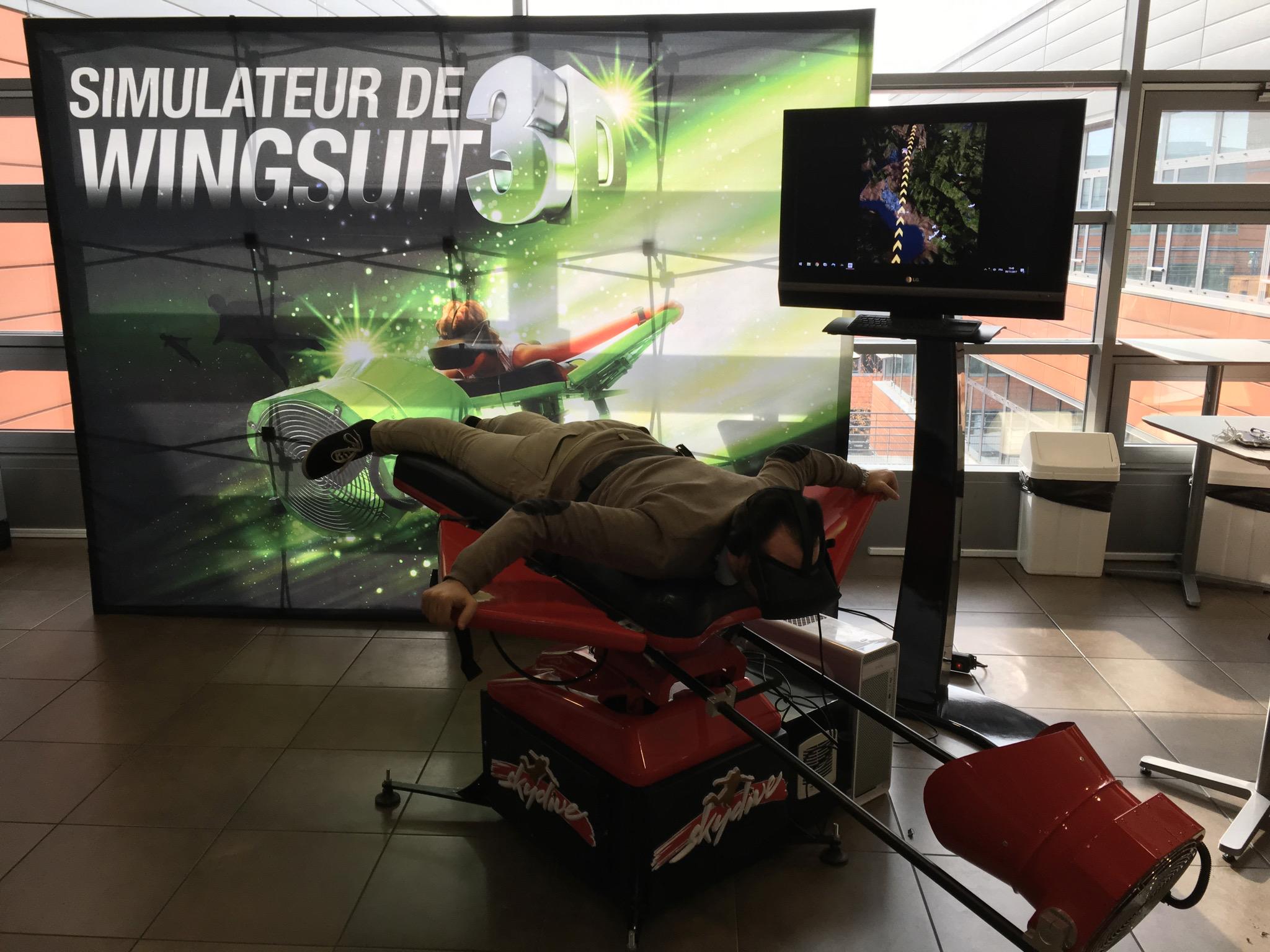 Découvrez la chute libre en réalité virtuelle avec Be Event Sensation