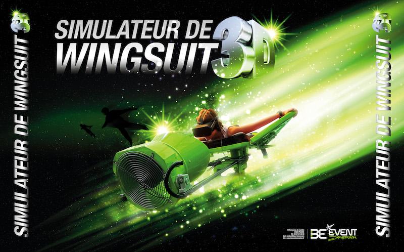 Simulateur de chute libre en réalité virtuelle