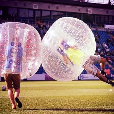 Un moment inoubliable avec le bubble foot .