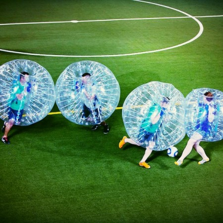Tournoi en bubble foot animation entreprise Nantes