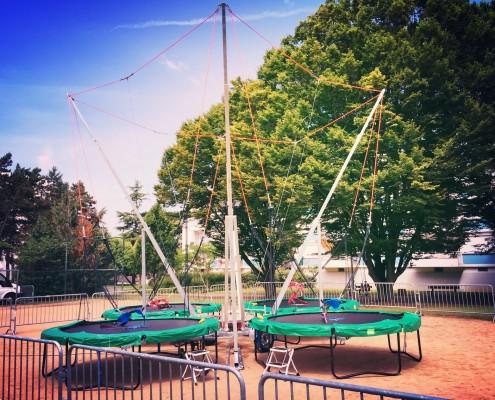 Location de trampolines pour Weekend d'intégration