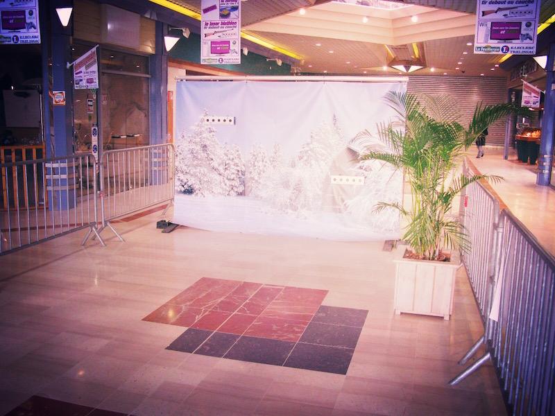 Animation de centres commerciaux avec le laser biathlon