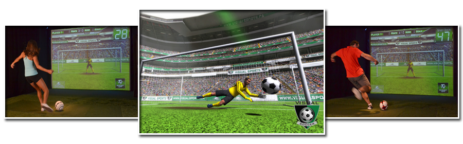 Prestation d'animation pour entreprise avec le simulateur 3D Foot LE MANS