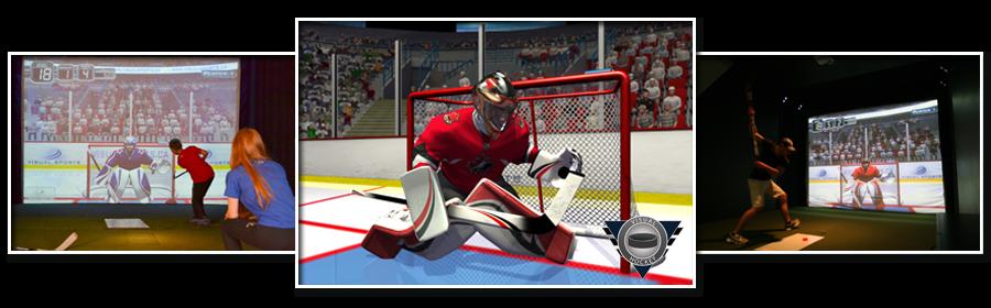 Prestation d'animation pour entreprise avec le simulateur 3D Hockey PARIS