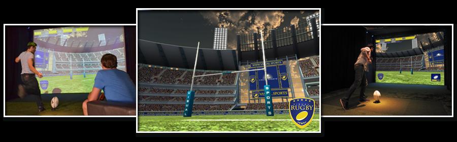 Prestation d'animation pour entreprise avec le simulateur 3D Rugby TOURS
