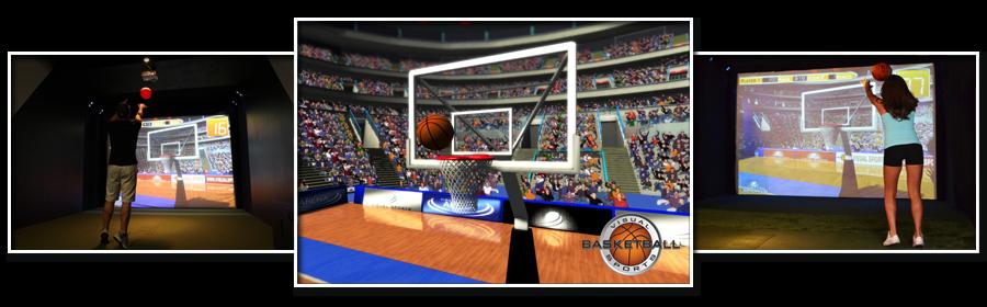 Prestation d'animation pour entreprise avec le simulateur 3D Basket NANTES