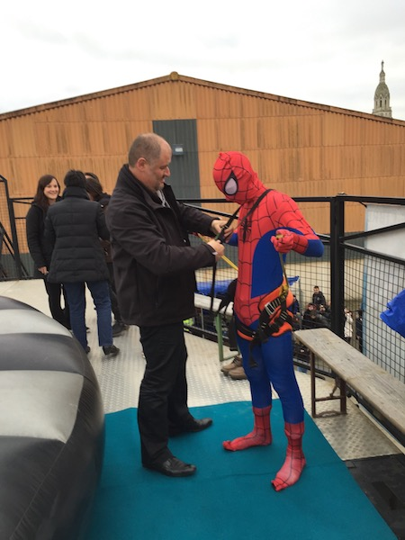 Superman est venu nous voir sur notre simulateur de chute libre mobile à Montpelier
