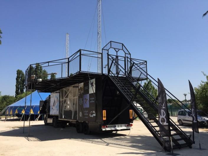 Mise en place du simulateur de vol libre mobile en région Parisienne