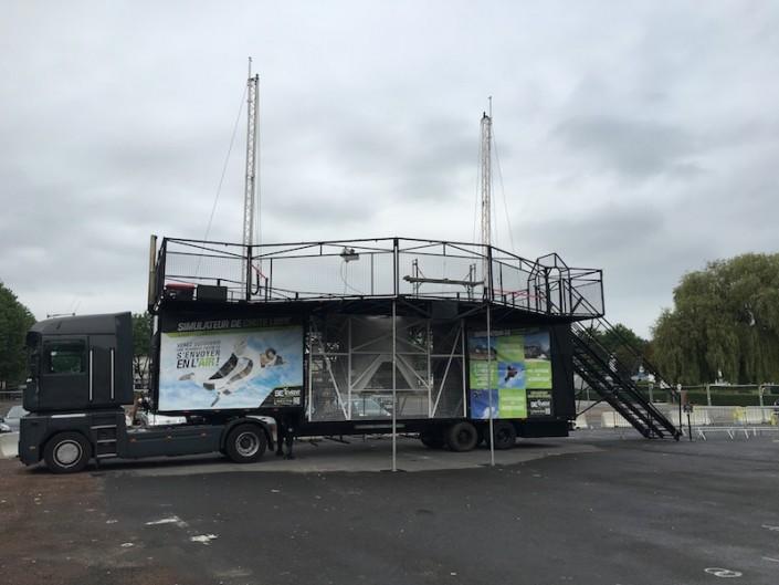 Mise en place de notre simulateur de chute libre à Pontault-Combault