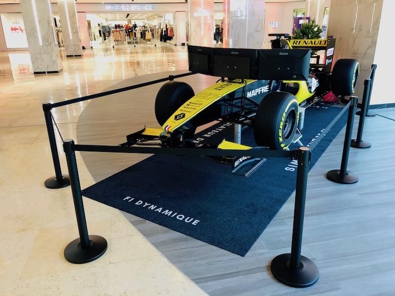 Prestation d'animation avec le simulateur de F1 partout en France