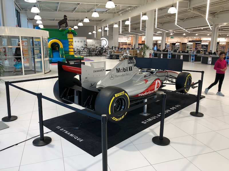 Sensation garantie avec le simulateur de F1 dynamique sur vérin de Be Event Sensation.