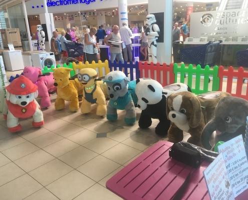 Découvrez les peluches roulante de Be Event Sensation pour des animations de centres commerciaux